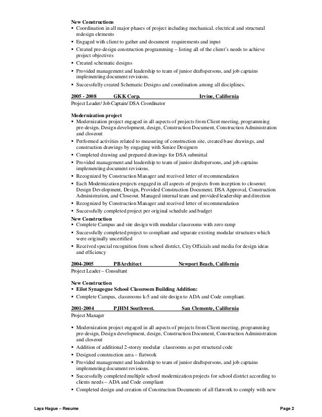 Resume 2014 without cover letter short for Asi construction documents