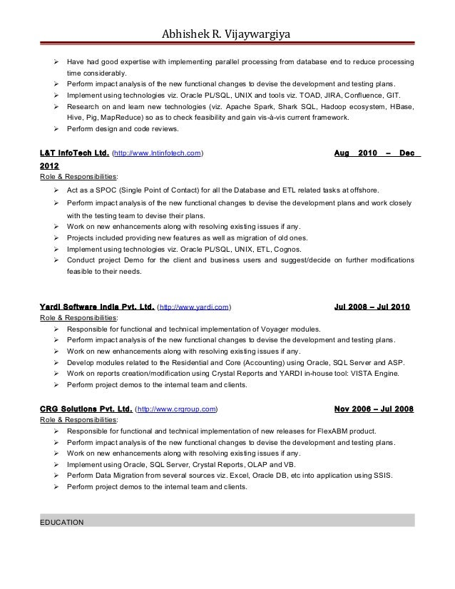 dot net resume sample data warehouse architect resume dot net slideshare