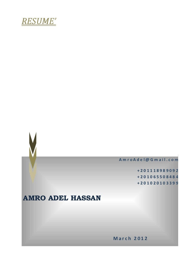 Resume Amro Adel March 2012 Detailed Honac 002 Extra Header 1