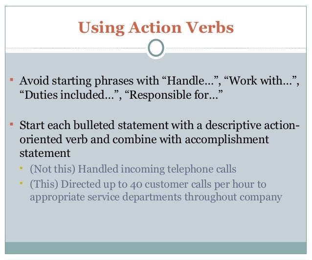 verbs to use in a resume free resume template