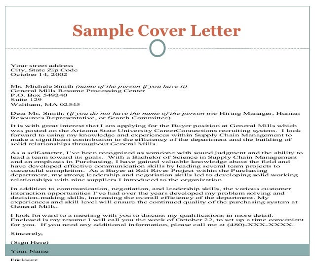 generic resume cover letter