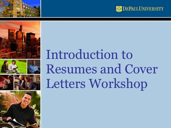 Resume and cover letters workshop presentation