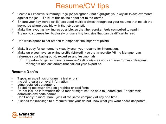 resume and search strategies v5 external