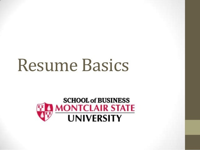 Resume basics for blackboard