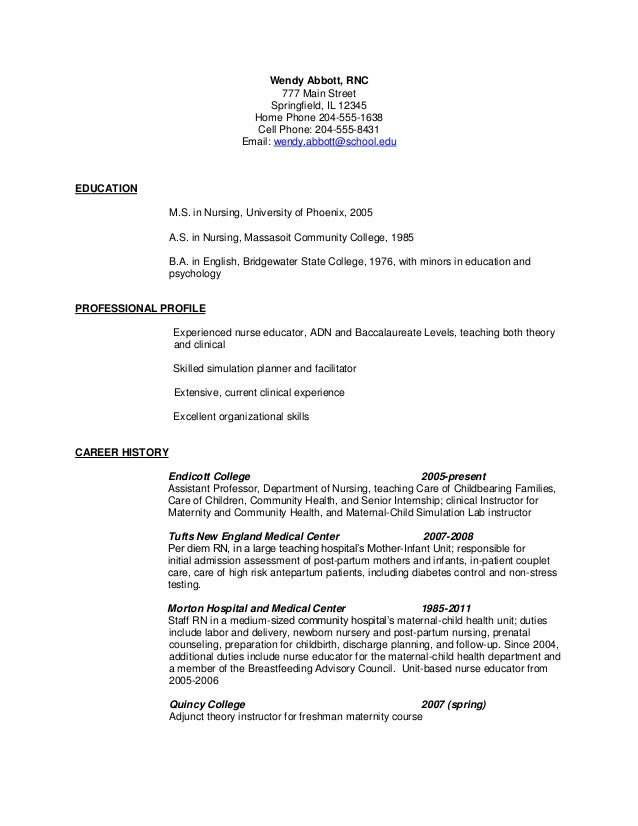 Resume before