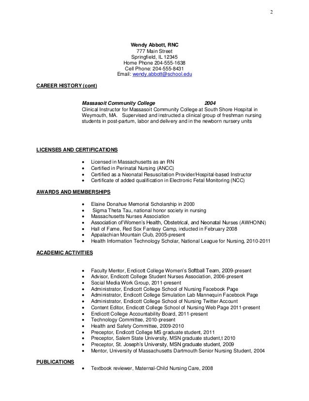 Community College Instructor Resume Sample