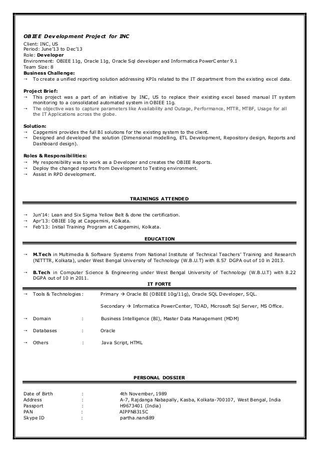 Informatica Resume Busboy Resume Sample Job Resume Busboy Job ...