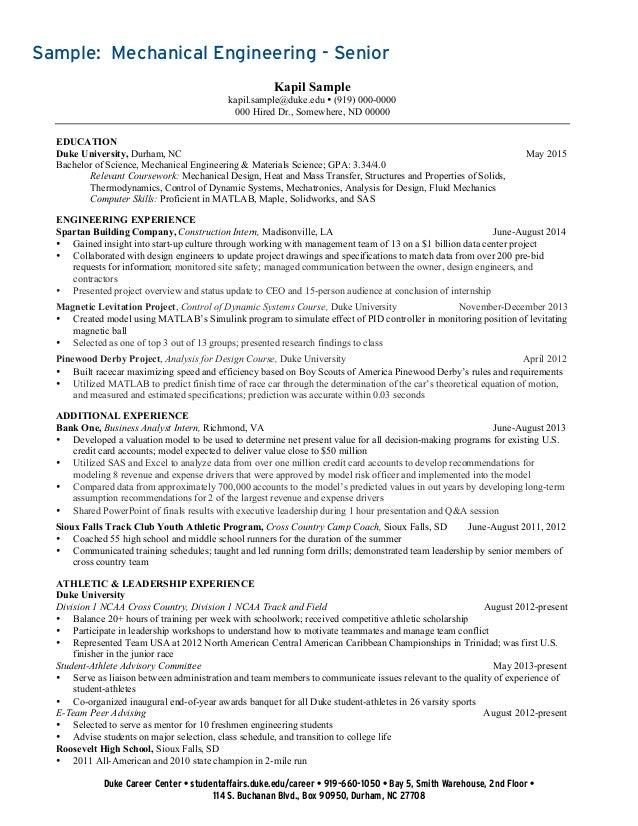 resume undergraduate engineering student