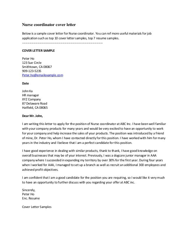 Resume Cover Letter Doc – Job Cover Letter Sample Doc