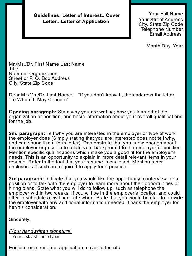 How to write a cover letter for a resume examples