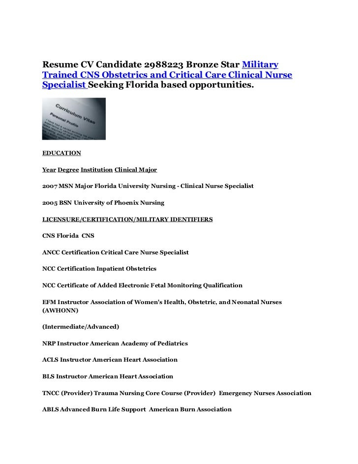 resume cv candidate 2988223 bronze star military trained cns obstetri u2026