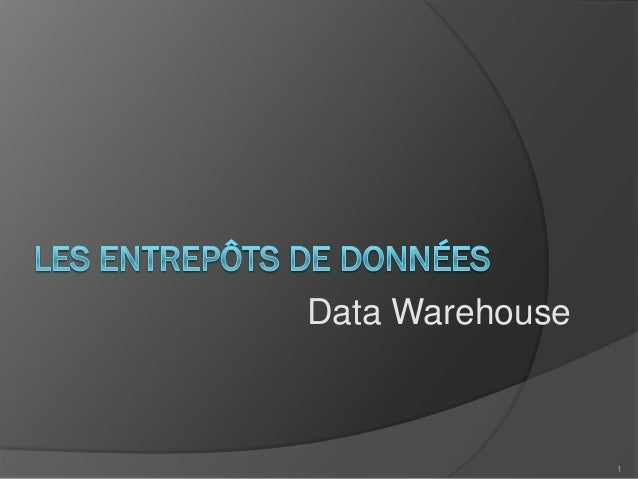 Data Warehouse 1