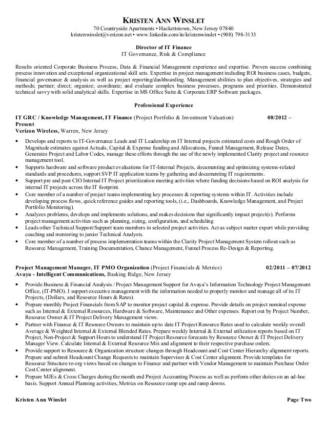 pmo analyst cover letter sample. resume for financial ...