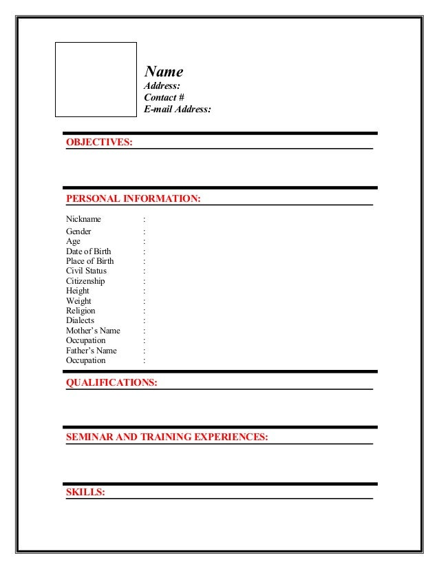 New Resume Format Resume Format New Cv Format For Freshers