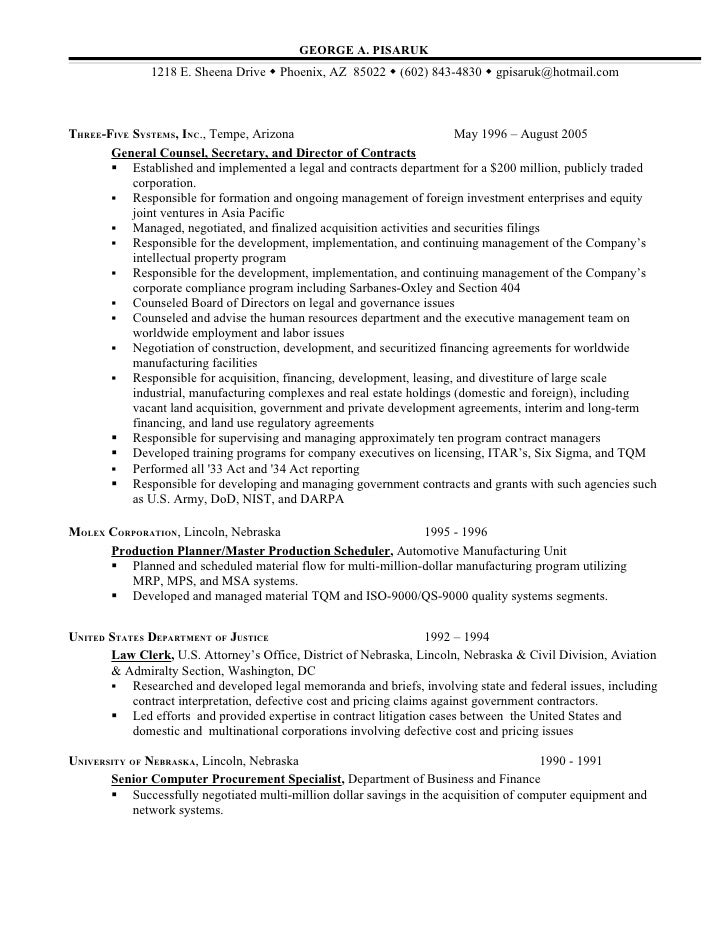 General Counsel Attorney Resume Example Page 2 Pictures,General ...