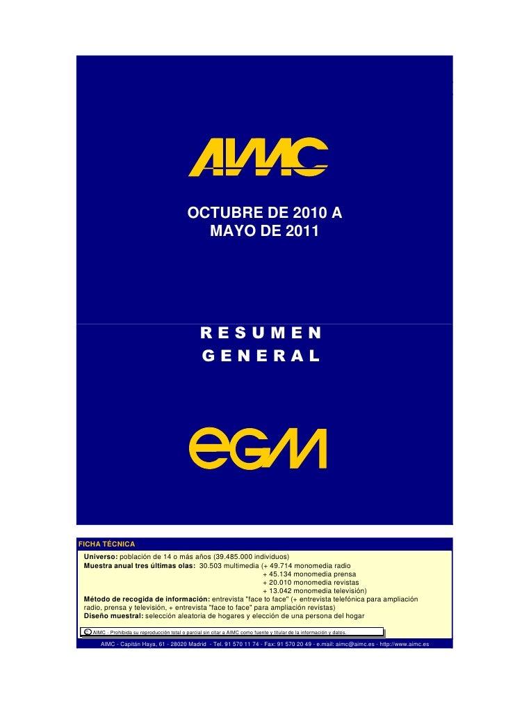 Resum EGM 2011