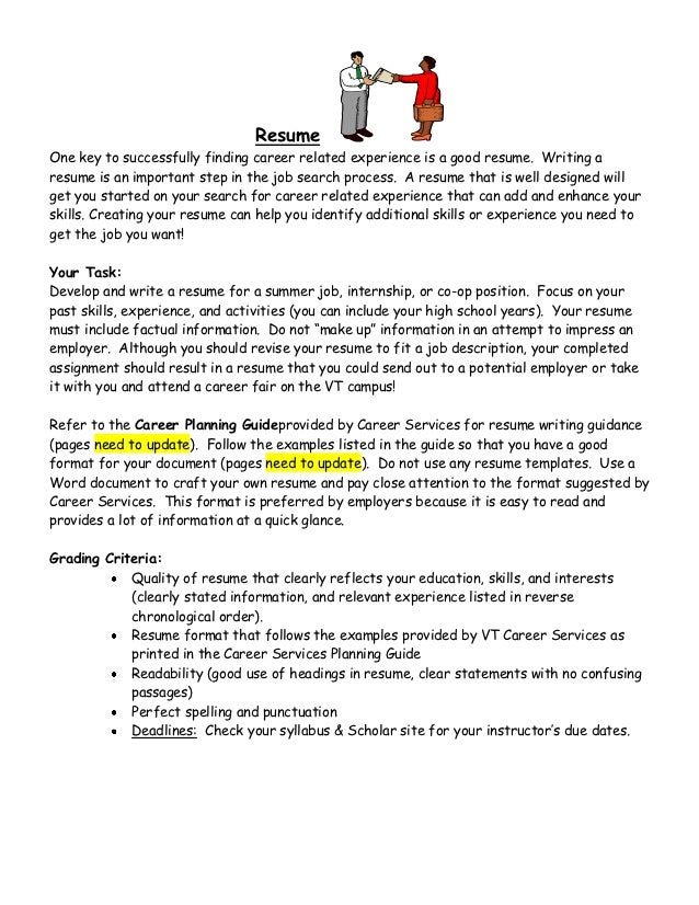 how to write a resume step by step instructions