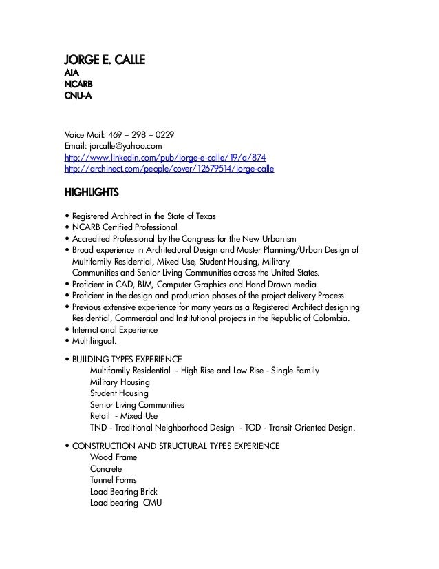 JORGE E. CALLEAIANCARBCNU-AVoice Mail: 469 – 298 – 0229Email: jorcalle@yahoo.comhttp://www.linkedin.com/pub/jorge-e-calle/...