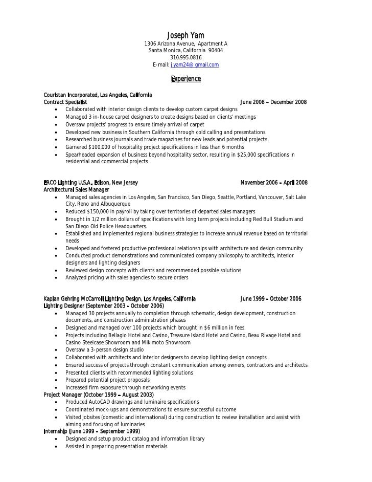 Contract Specialist Resume  CityEsporaCo