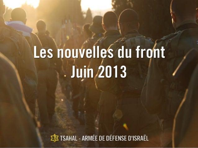 Les nouvelles du front Juin 2013