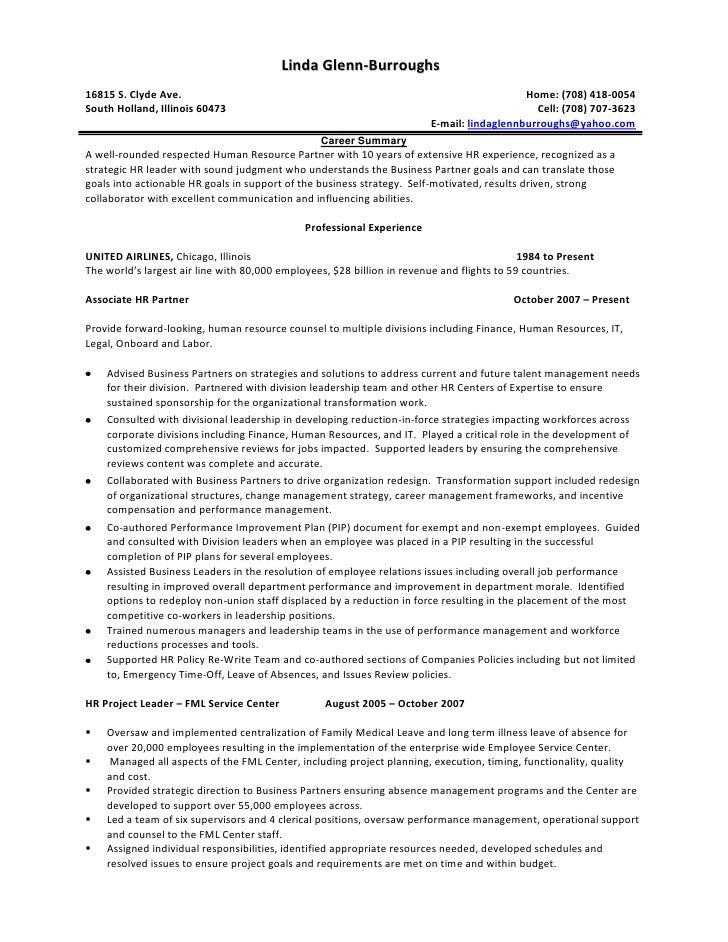 resume linda glenn burroughs