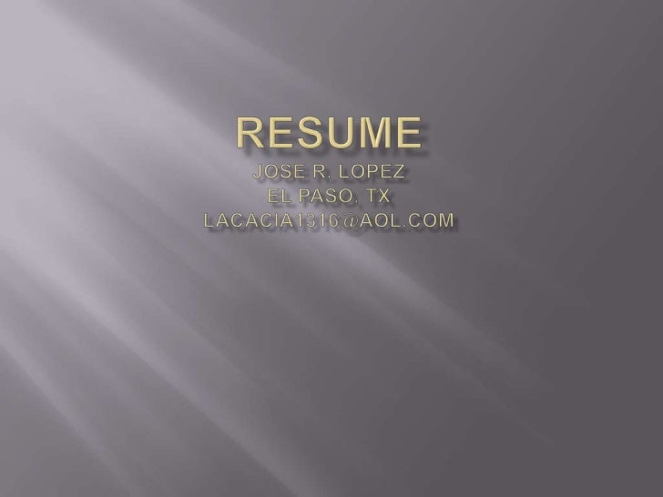 Resume Linked In