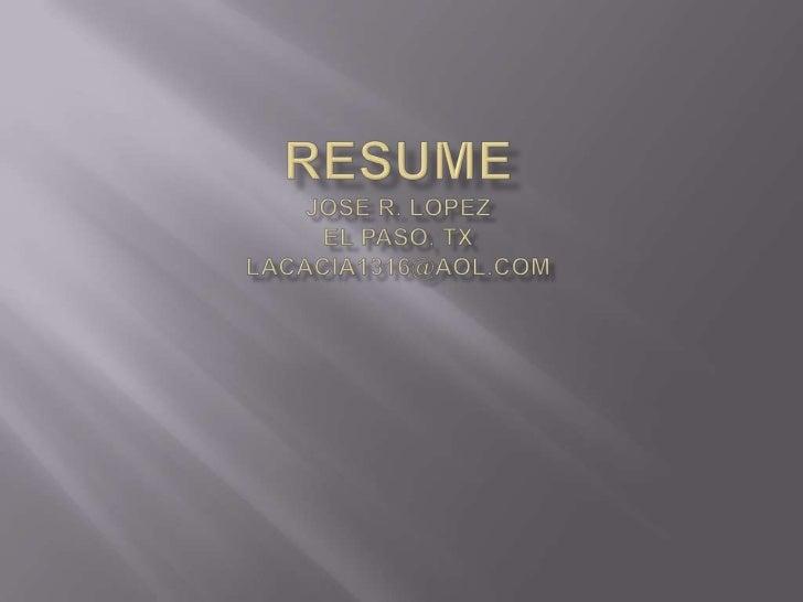 Resume Linked In