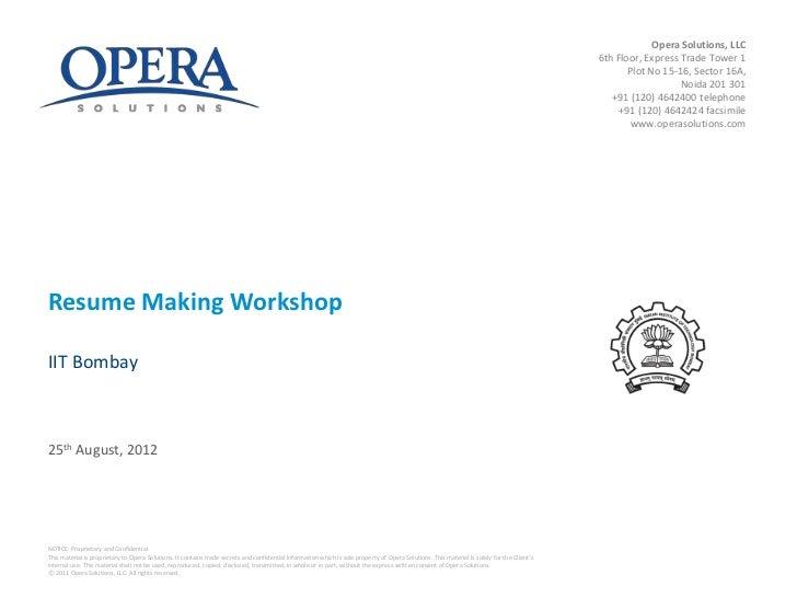 resume making workshop