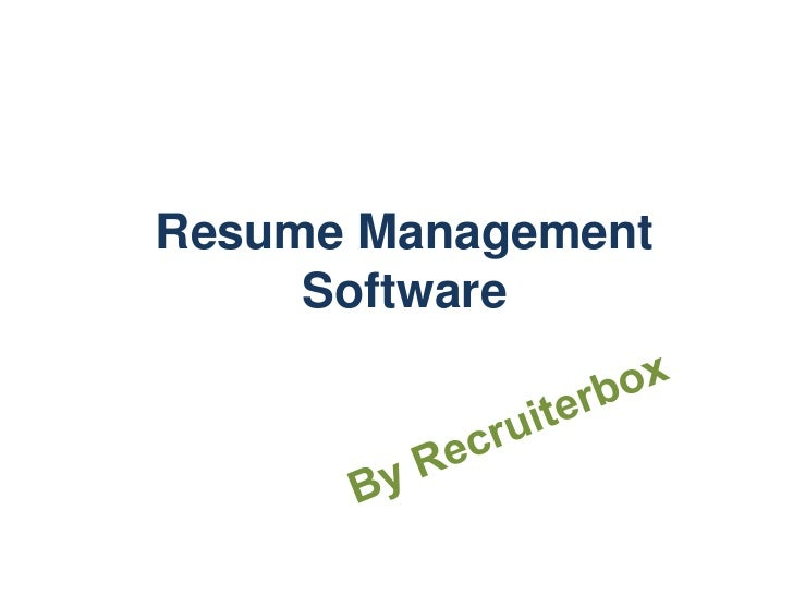 Resume Management Software by Recruiterbox