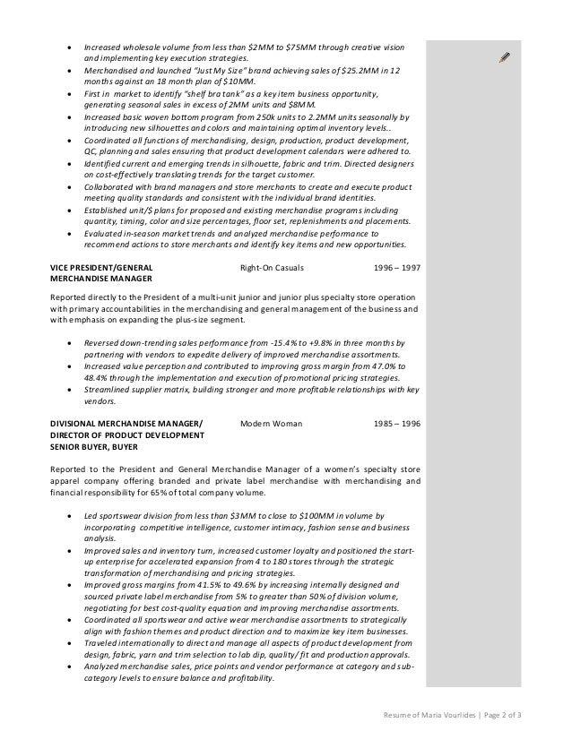 visual merchandising manager resume carpinteria rural friedrich resume samples for professionals in retail amp wholesale - Merchandising Manager Resume