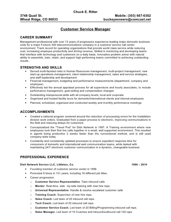 Call Center Customer Service Resume Examples - Template