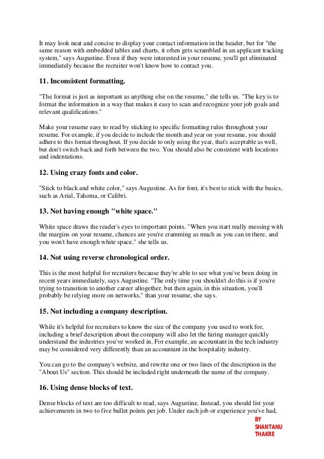 resume mistakes done by you that can send your resume to
