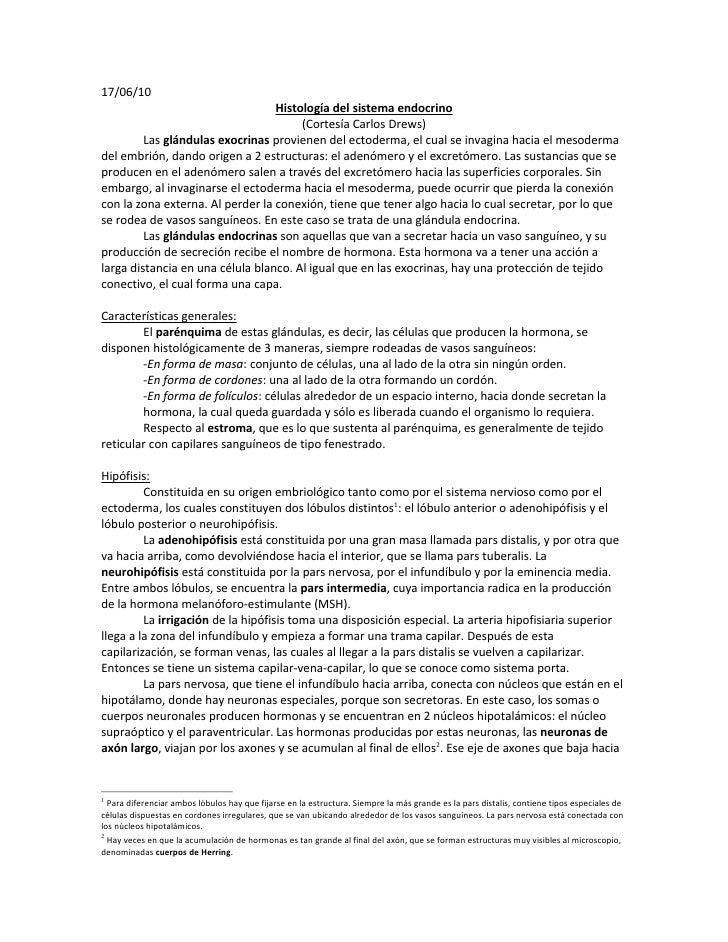 17/06/10                                   Histología del sistema endocrino                                        (Cortes...