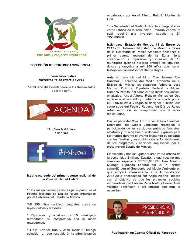Resumen 16 enero de 2013