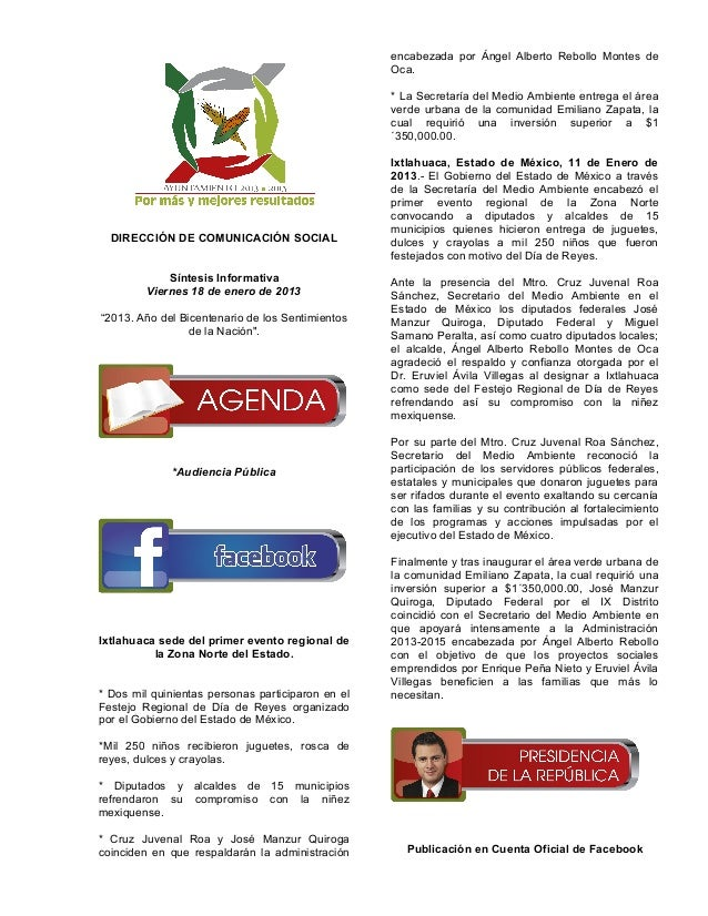 Resumen 18 enero de 2013
