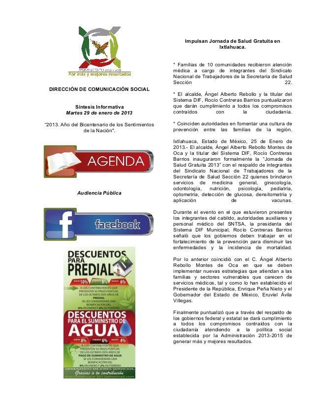 Impulsan Jornada de Salud Gratuita en                                                                    Ixtlahuaca.      ...