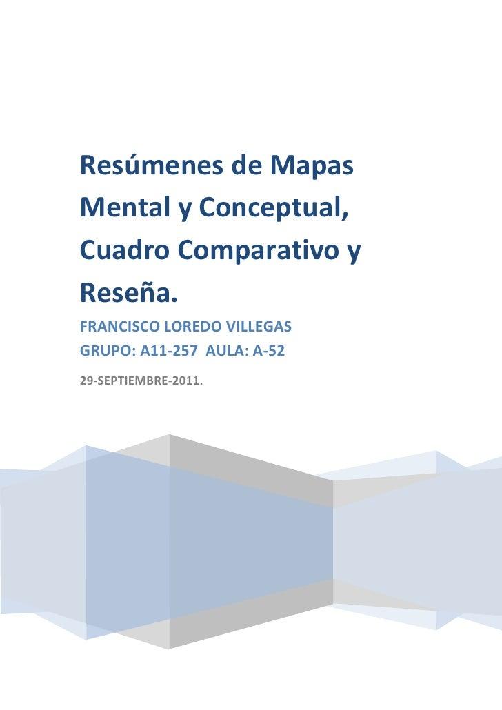 Resumen  de la lectura mapas mentales