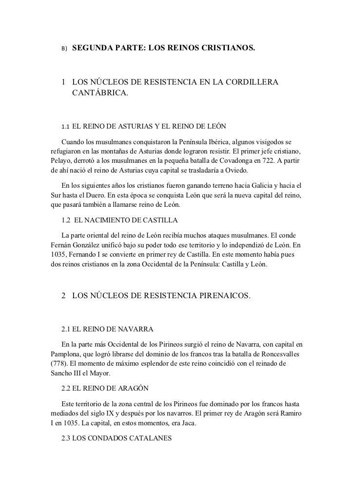 Los Reinos Cristianos Resumen Los Reinos Cristianos