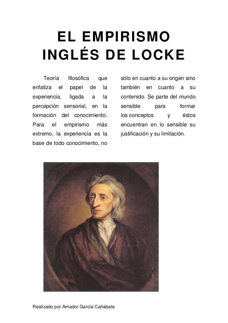 resumen empirismo ingl 233 s