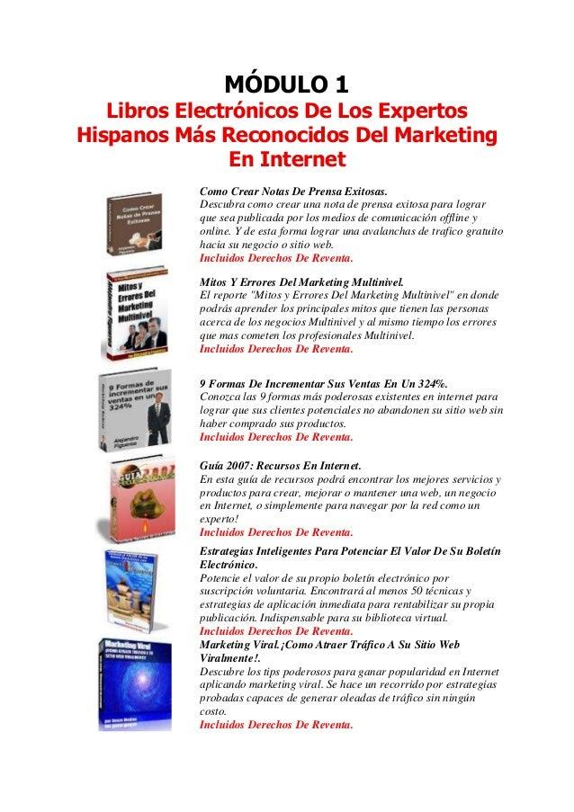 MÓDULO 1   Libros Electrónicos De Los ExpertosHispanos Más Reconocidos Del Marketing                En Internet           ...