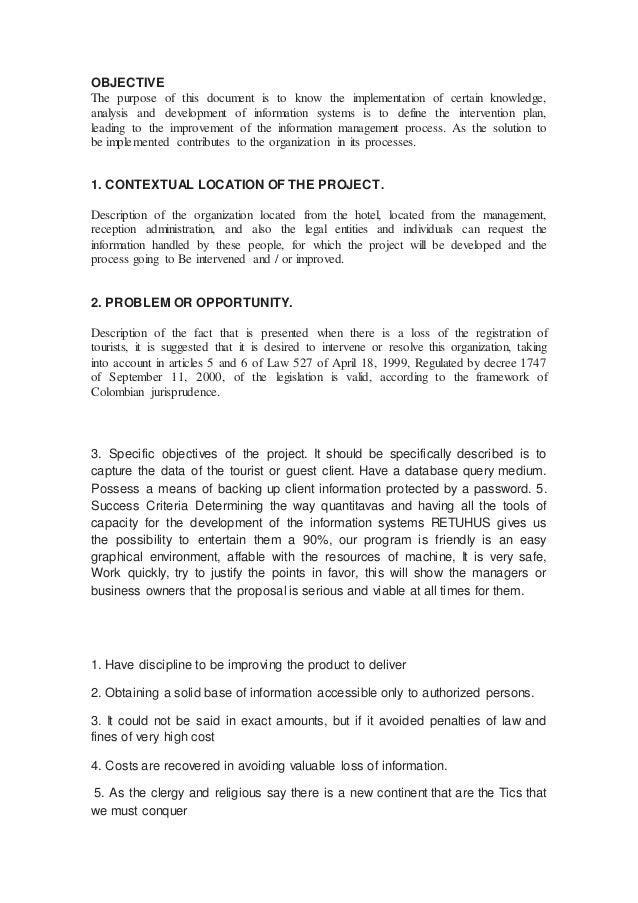 Resumen del proyecto en ingles for En resumen en ingles