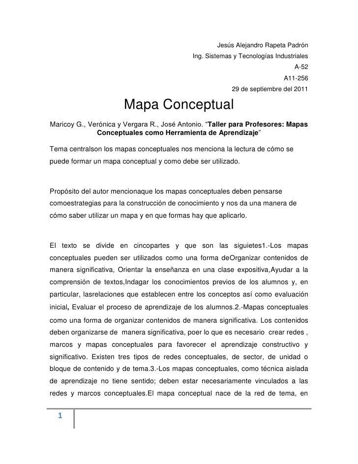 Jesús Alejandro Rapeta Padrón<br />Ing. Sistemas y Tecnologías Industriales <br />A-52<br />A11-256<br />29 de septiembre ...