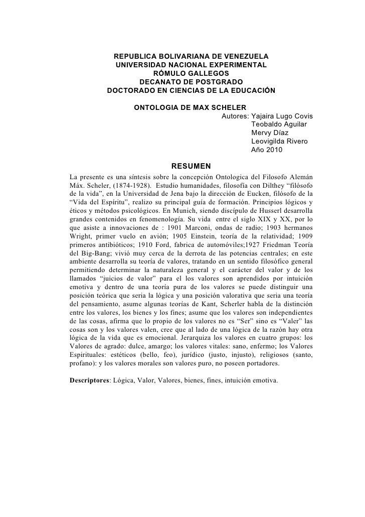 REPUBLICA BOLIVARIANA DE VENEZUELA               UNIVERSIDAD NACIONAL EXPERIMENTAL                        RÓMULO GALLEGOS ...