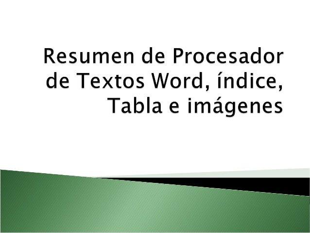 Prcesador De Textos Procesador De Textos Procesador De