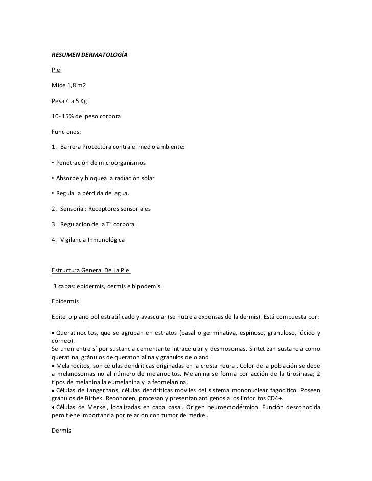 Resumen dermatología
