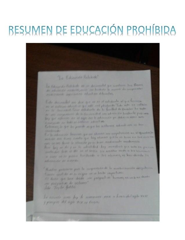 resumen educacion prohibida