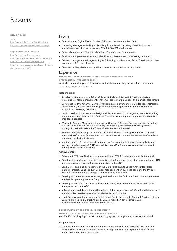 Resume  NEIL K WILSON                                                    Profile WEB http://www.linkedin.com/in/neilkwilso...
