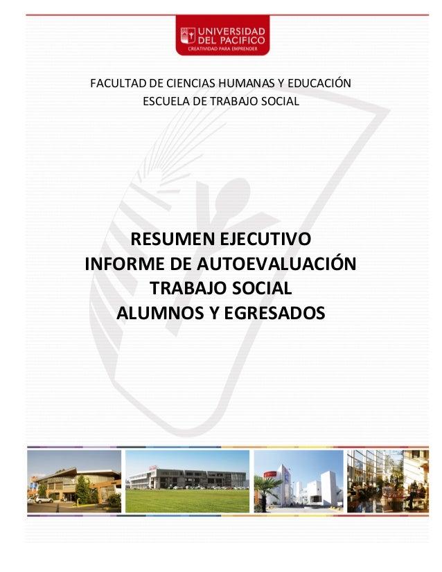 1          FACULTAD  DE  CIENCIAS  HUMANAS  Y  EDUCACIÓN   ESCUELA  DE  TRABAJO  SOCIAL      ...