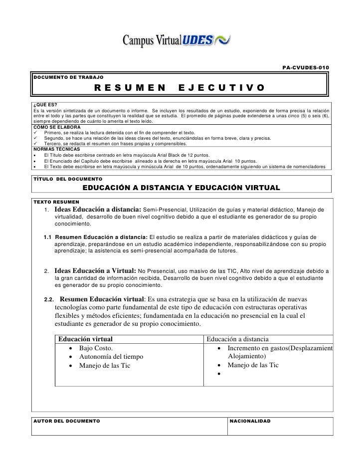 resumen ejecutivo pdf