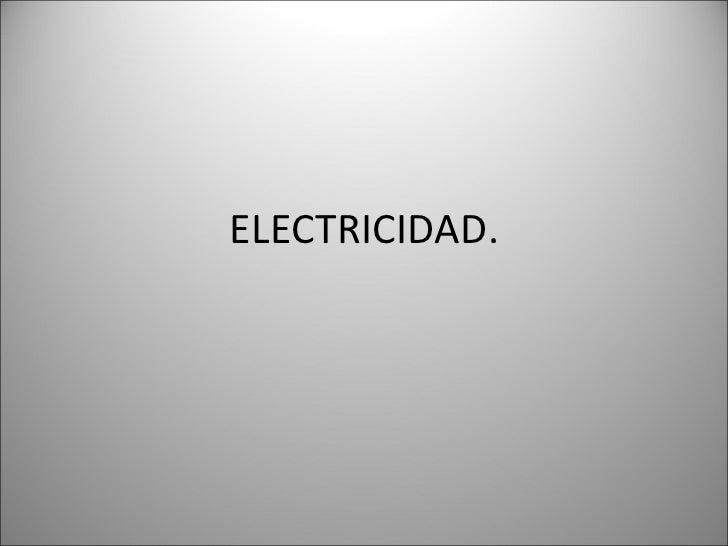 Resumen electricidad